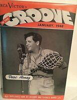 "DESI ARNAZ (""RICKY"" ON ""I LOVE LUCY"") RARE JAN. 1948 RCA VICTOR GROOVE MAGAZINE!"