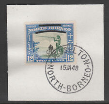 North Borneo 6015 - 1947 KG6 CROWN COLONY 12c with MADAME JOSEPH FORGED POSTMARK