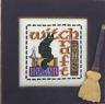 HINZEIT Cross Stitch Chart with 1 Charm WITCH CRAFT Halloween