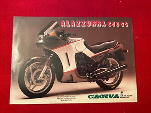 Cagiva Alazzurra 650 SS Motorcycle Brochure Original Excellent Condition