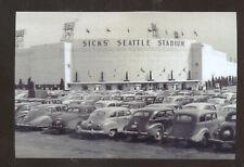 REAL PHOTO SEATTLE WASHINGTON RANIER BASEBALL STADIUM SICKS POSTCARD COPY CARS