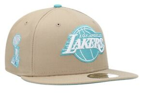 New Era Los Angeles Lakers Trophy Khaki Hat 59Fifty Fitted Pick Ur Size