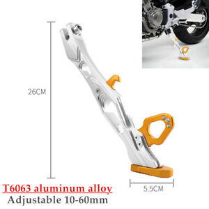 CNC Aluminum Alloy Motorcycle Adjustable Kickstand Foot Side Stand Universal×1