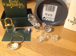 swarovski crystals glass ornaments mixed bach of animals some perfect condition
