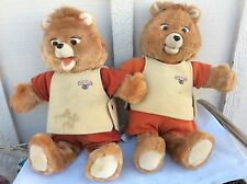 TEDDY RUXPIN Lot Bears Outfits & Casset Adventure Sleeping & Grubby Workout