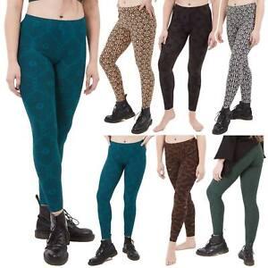Sacred Geometry Yoga Leggings, Psy Trance Hippy Clothing, Geometric Print Pants