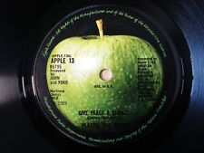 """The Plastic Ono Band Give Peace A Chance A-1 B-1 KT UK 7"""" APPLE 13 1969 VG+"""