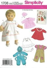 """Simplicity 1708 Vintage 15"""" Baby Doll Coat, Bonnet, Dress, Bloomers, Snowsuit UC"""