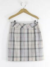 Barbour mujer crema Check falda tamaño 8