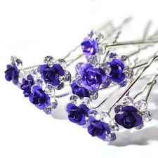 Accessoires de coiffure violet en cristal pour femme