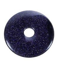 Blaufluss Donut Anhänger Edelstein 50 mm Scheibenstein Pi Stein