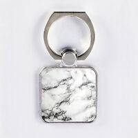 White Marble Phone Holder Ring Grip Stand Mount