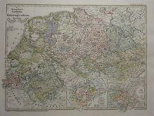 1846 SPRUNER ANTIQUE HISTORICAL MAP ~ SAXONY LOTHARINGIA THURINGIA OSTERLAND
