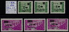 1946 - Istria e Litorale Sloveno - Segnatasse - nuovi - MNH - Sassone n.8/13