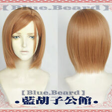 Anime Jujutsu Kaisen Cosplay Kugisaki Nobara Short Dark Orange Hair Full Wig Cap