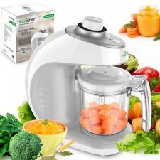 NutriChef PKBFB18 Digital Baby Food Maker Machine, 2-in-1 Steamer Cooker & Blend