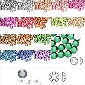 1000pcs Acrylic Crystal Flatback Rhinestones Round Nail Art Decoration SS38 SS34