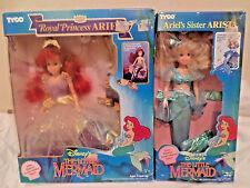 Lot of 2  TYCO ARISTA & ARIEL Dolls  Disney's (The Little Mermaid)  1990's  NRFB