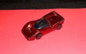 "1968 Mattel Hot Wheels Redlines Red ""McLaren MSA"" Made In Hong Kong! Nice!"