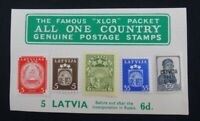 Latvia mint stamps.  Collectors packet including Russian Occupation by XLCR