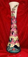 Moorcroft vase large (31cm) by designer Rachel Bishop Beautiful Foxglove pattern