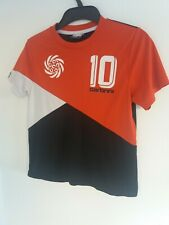 Carbrini Boys TShirt Top Age 7-8 Red Black White Sport/School/Exercise Quick Dry