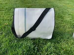 """Moss"" Fire Hose Messenger bag - made from discarded fire hose, 2 sizes"