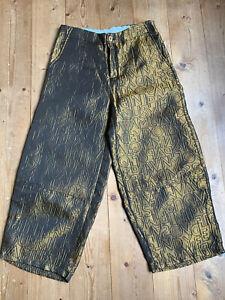 Lagenlook Ballonhose Wendy Trendy bronze Baumwollmix mit Metall M