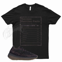 Black SUCCESS T Shirt match Yeezy Boost ONYX fade mist mauve utility vanta salt