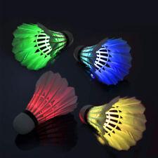 8 PACK LED Badminton Birdies Glow in The Dark Night Shuttlecocks For Sports