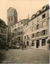 Schroeder, Suisse, Neuchâtel, Croix de Marché vintage photomechanical Photoméc