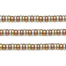 Wood Rondelle Beads Gold Silver Copper 8x4mm 16 Inch Strand