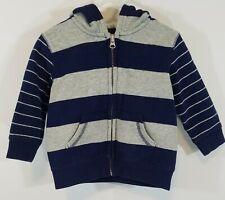 Circo Boys 18 months Blue/Gray Long Sleeve Hooded Zipper Jacket