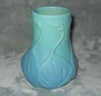 Vintage Van Briggle 5 Swans Ming Blue Vase