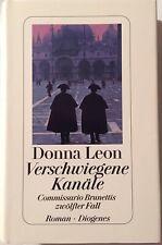 Donna leon firmado canales libro original firma firma autógrafo