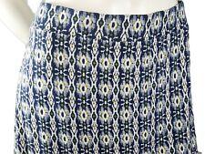 White Stuff Skirt Hippy Boho Patterned Blue Burgundy mix Stretch Size 16