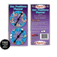 Sex Positions Planner Spinner Fun Adult Couples Foreplay Game Card Board Bedroom