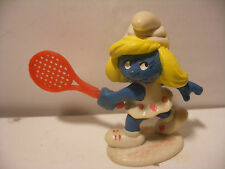 PVC Puffi SMURF SCHLUMPF ancien 1981 Schleich Portugal Schtroumpf Tennis 2.0135