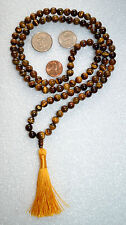 108 Mala Beads Brown Tiger Eye 6 mm Handmade Prayer Beads Gemstone Yoga Jewelry