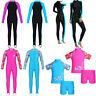 Girls Kids Long Sleeve Swimwear Rash Guard Dive Suit Full Body Swimsuit Bathing