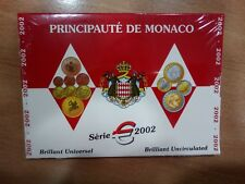 MONEDAS DE EURO DE MONACO SERIE € 2002 EN FOLDER ORIGINAL