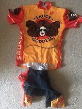 New listing Champion Sys Mens Cycling Kit Size Medium Jersey And Bibs Black /orange
