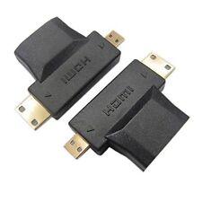 3 In 1 1080P HDTV Converter Micro/Mini Cable Adapter Male To HDMI Female