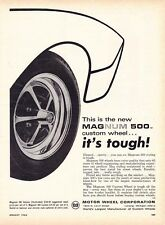 1966 MAGNUM 500 CUSTOM WHEEL  -  ORIGINAL MOTOR WHEEL CORP PRINT AD