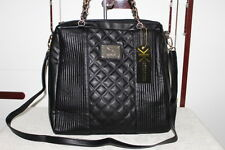 KK-Kardashian Kollection  Double Quilted Tote Black Bag
