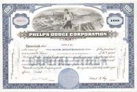 Phelps Dodge Corporation - Stock Certificate