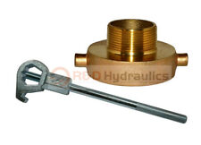 Fire Hydrant Adapter Combo 2 12 Nstf X 1 12 Nptm With Hd Hydrant Wrench