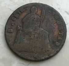 1866 Over 5 Mexico 1/4 Real - Scarce Copper