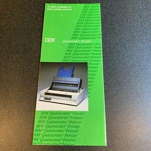 IBM Quietwriter Printer Vintage Computer sales marketing brochure 1984 PC 5150