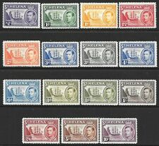 St Helena: 1938-44 Definitive set of 14, MH